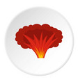 atomical explosion icon circle vector image vector image