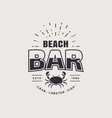 beach bar logo isolated on white background vector image vector image