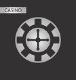 black and white style roulette casino vector image