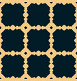 black and yellow geometric seamless pattern vector image vector image