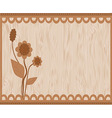 Brown floral card vector image vector image