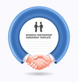 business people handshake template background vector image vector image