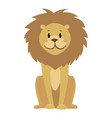 cartoon lion a cute lion vector image vector image