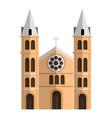 china church icon cartoon style vector image