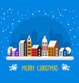 christmas decor design winter street vector image vector image