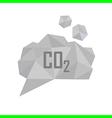 co2 grey cloud vector image vector image