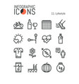 collection of creative thin line lifestyle vector image