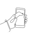 continuous one line art drawing hand using vector image