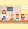 cooking with kids flat vector image