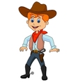 Cowboy cartoon vector image vector image