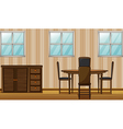 Dining room vector image vector image