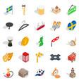 european union icons set isometric style vector image vector image