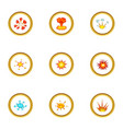explode animation effect icons set cartoon style vector image vector image