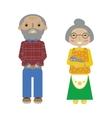 Flat cartoon grandparents senior pair vector image vector image