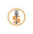 fork dollar restaurant vector image