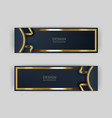 Gold banner design with minimalist modern style