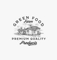 green food farm abstract sign symbol vector image vector image