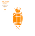Honey Barrel vector image