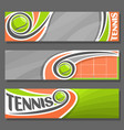 horizontal banners for tennis vector image vector image