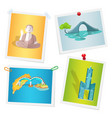 images with taiwanese attractions attached to wall vector image vector image