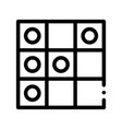 interactive kids game draughts sign icon vector image vector image