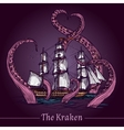 Kraken Sketch vector image