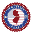 label sticker cards state new jersey usa vector image