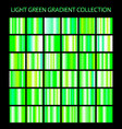 light green gradients collection glowing patterns vector image vector image
