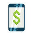 Mobile banking flat icon business and finance