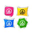 money bag icons dollar euro pound and yen vector image vector image