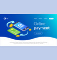 online payment with smartphone e-commerce vector image vector image