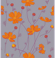 orange cosmos flowers vector image vector image
