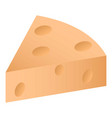 piece of cheese icon isometric style vector image