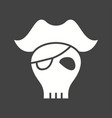 pirate skull i vector image vector image