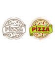 pizza vintage logo vector image vector image