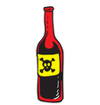 poison red bottle vector image vector image