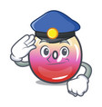 police jelly ring candy character cartoon vector image