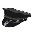 police peaked cap vector image vector image