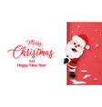 postcard santa claus with copy space vector image vector image