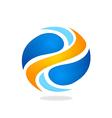 round swirl logo vector image vector image