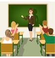 school lesson with students and teacher vector image vector image