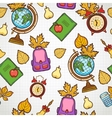 School seamless pattern with education elements vector image vector image