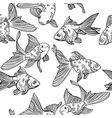 seamless pattern with image of a fishes vector image vector image