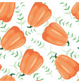 seamless patterns with leaves and pumpkin vector image vector image