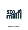seo increase graphic icon mobile apps printing vector image vector image