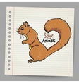 Squirrel with save the animals sign vector image vector image