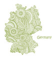 textured map of germany hand drawn ethno vector image