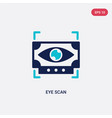 two color eye scan icon from future technology vector image vector image