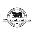 vintage angus cattle logo vector image vector image