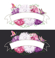 Vintage ribbon with flowers vector image vector image
